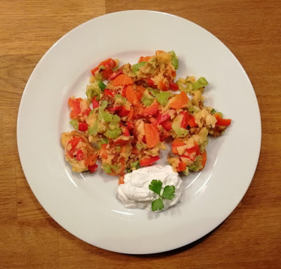 Gemüseschmarrn mit Quarkdip
