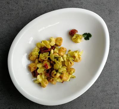 Fagottini mit getrockneten Tomaten und Korianderpesto