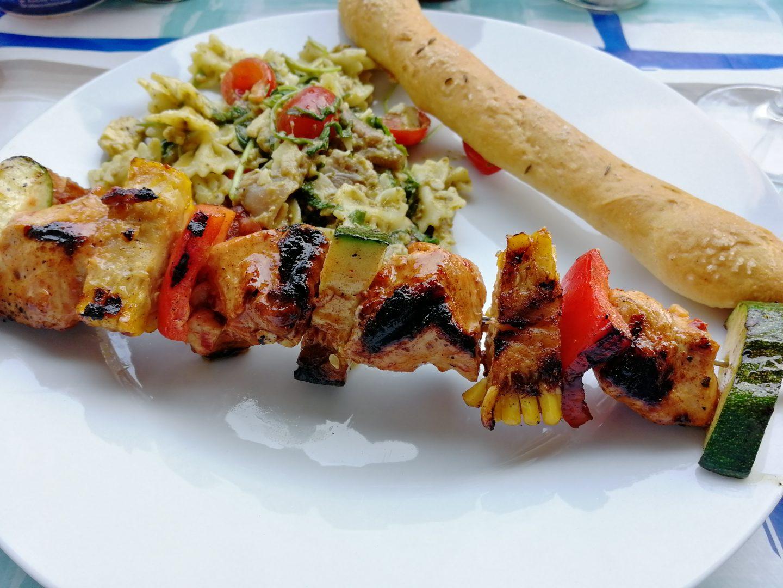 Hähnchen-Gemüse Spieße vom Grill