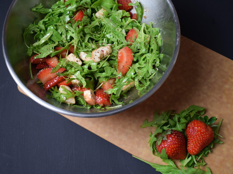 Rucola-Erdbeer Salat