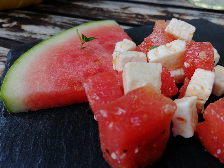 Wassermelone-Feta Salat
