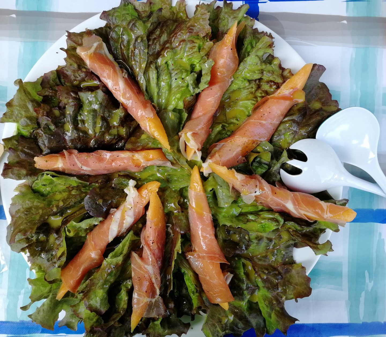 Prosciutto Melonen Salat