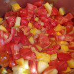 Zucchni und Tomaten Topf
