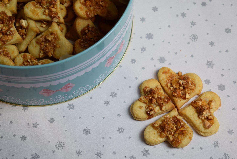 Cashew-Karamell Herzen