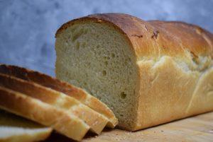 Buttertoast geschnitten