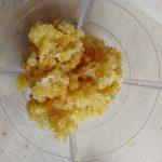 zerkleinerte Orange