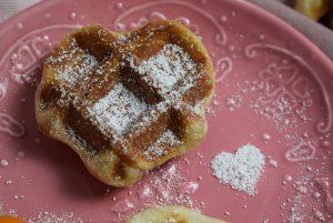 Waffle Bites Herz