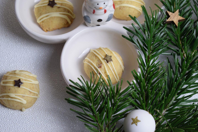 Nussbällchen mit weißer Schokolade