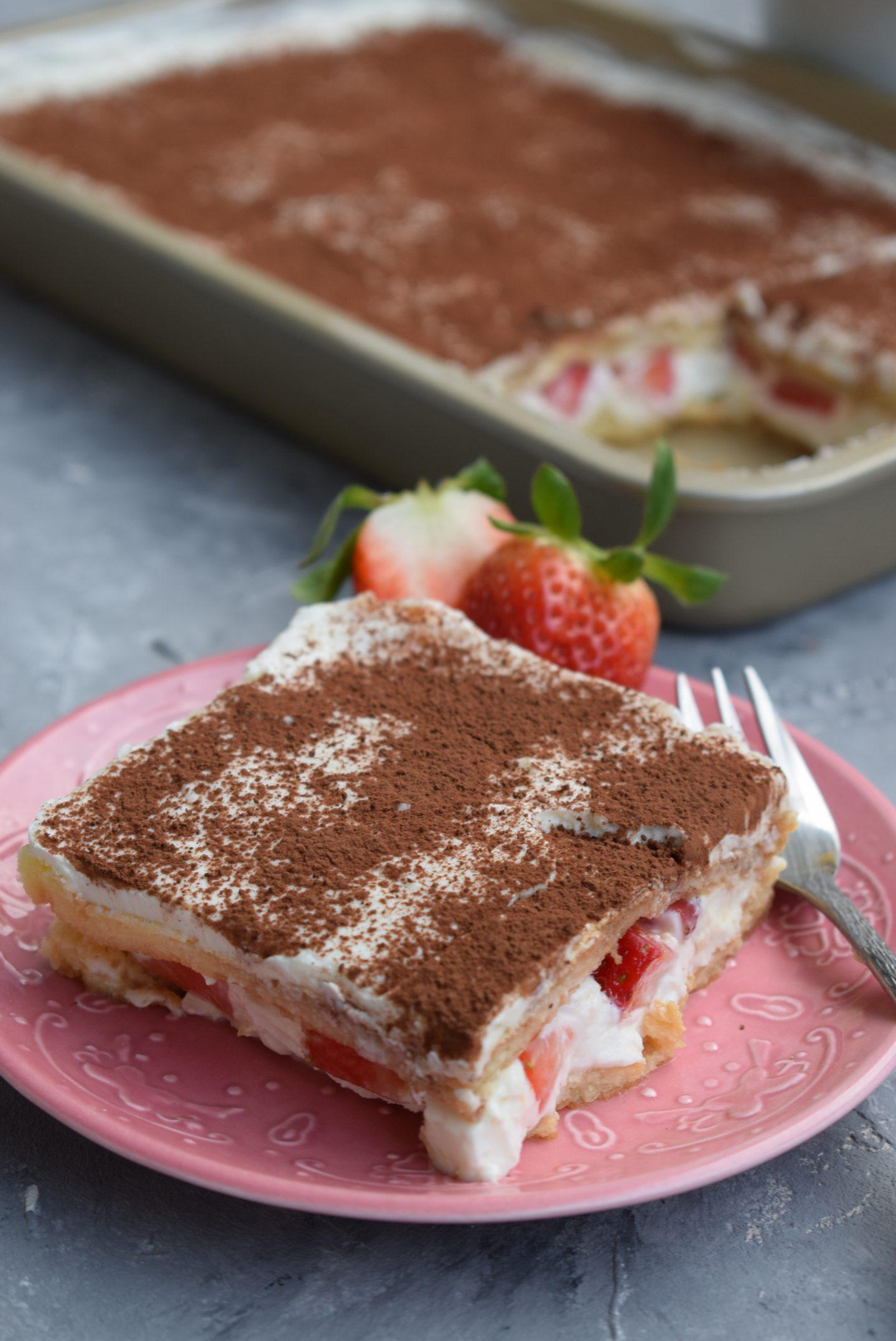 leichte Erdbeer-Tiramisu mit Skyr